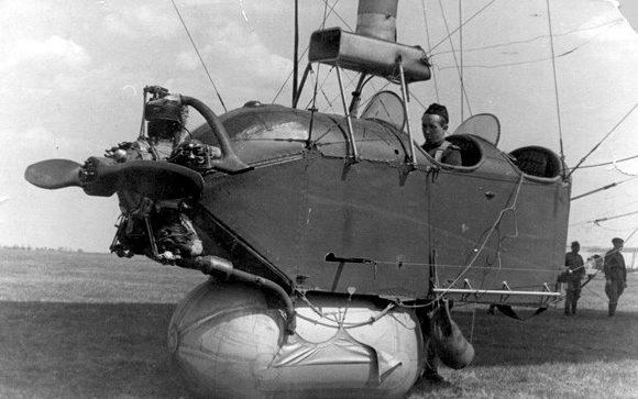 Моторизованный аэростат «Малыш» 1944 г. – гондола аэростата.