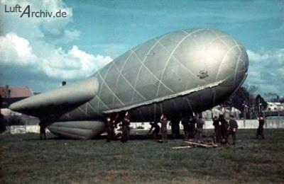 Германия. Аэростаты воздушного заграждения.