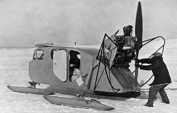Трехлыжные аэросани НКЛ-16