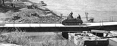 Мост из переправочно-мостового комплекта J-42