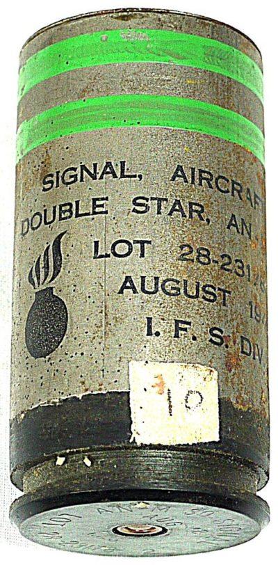 Сигнальная авиационная ракета калибра 37-мм зеленого огня двойной звездки с алюминиевой гильзой