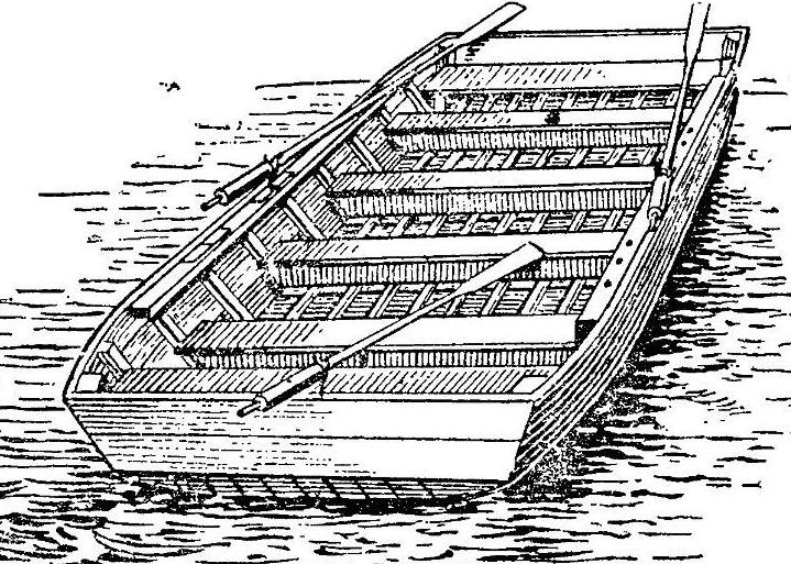 Рисунок лодки понтонного парка ДДП