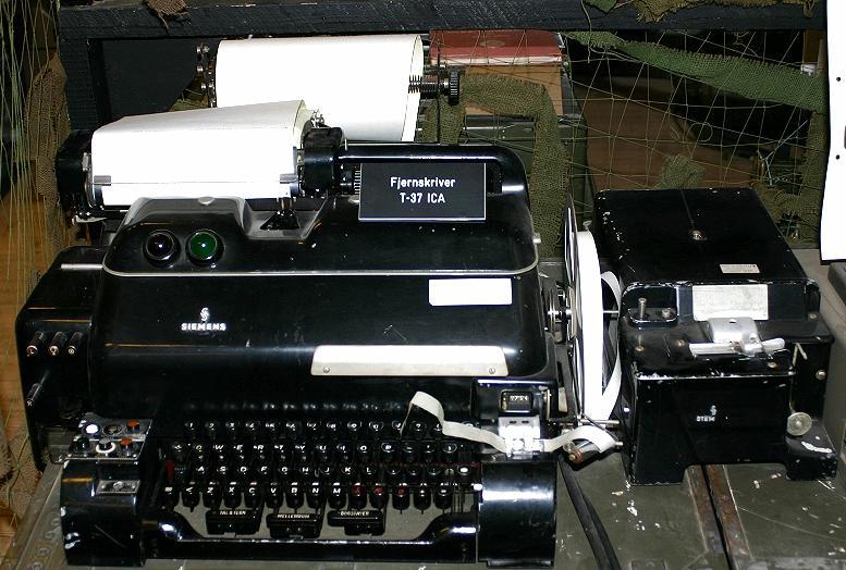 Шифровальная машина-телетайп T-37 ICA Fjernskriver