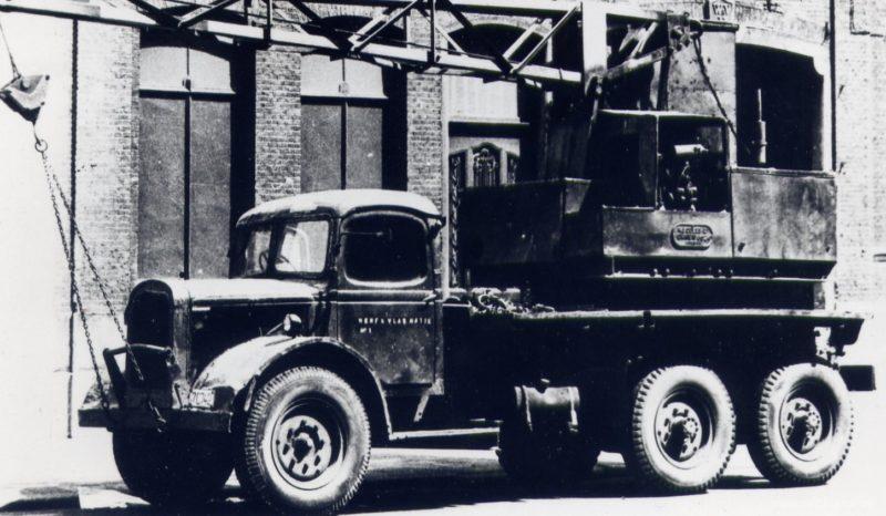 Автокран на базе грузовика Austin K-6