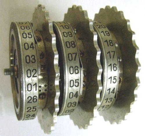 Вал с тремя роторами машины Enigma