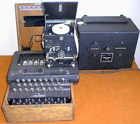 Шифровальная машина Enigma М-4 с печатным устройством «Schreibmax»