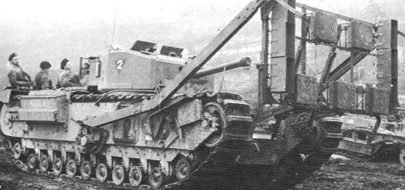 Машина разграждения на базе танка «Churchill»