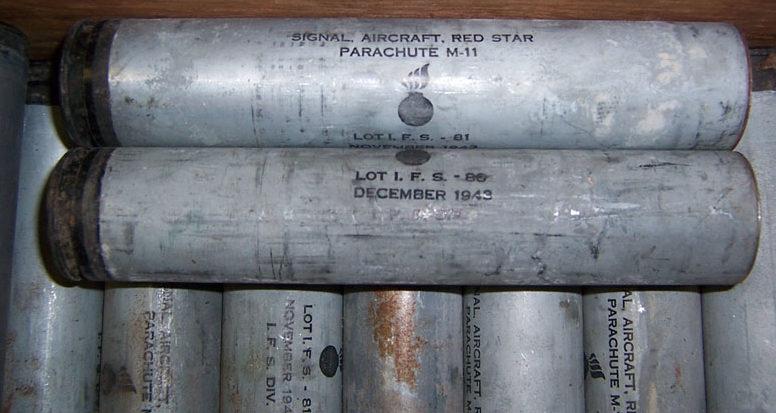 Сигнальная авиационная ракета калибра 37-мм красного огня М-11 с алюминиевой гильзой