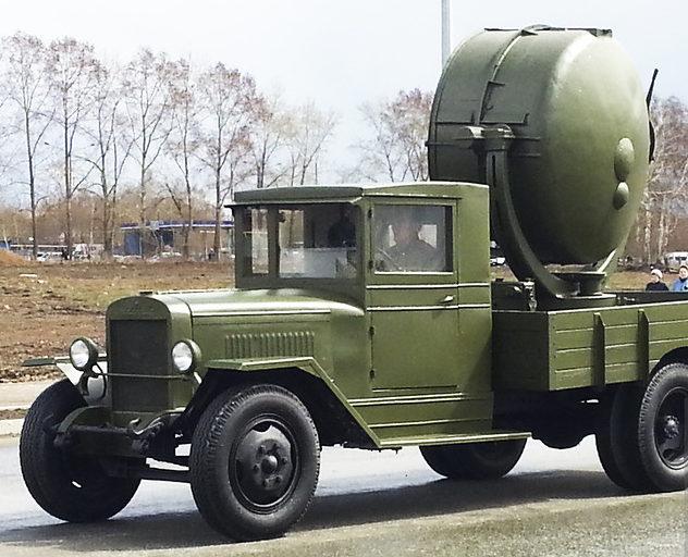 Зенитная прожекторная станция З-15-4 на ЗИС-5