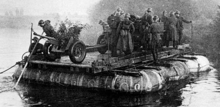 Понтон из лодок А-3