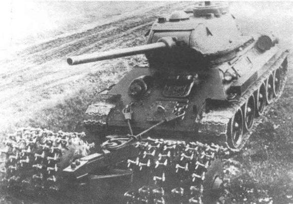 Трал ПТ-3М на танке Т-34-85