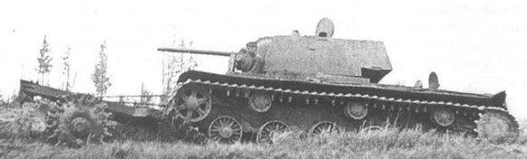 Катковый трал ПТ-3 на танке КВ-1
