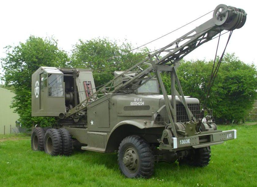 Автокран Brockway Model C-666 на базе грузовика Corbitt White