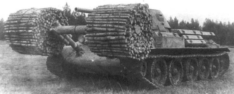 Танк Т-34 с фашинами