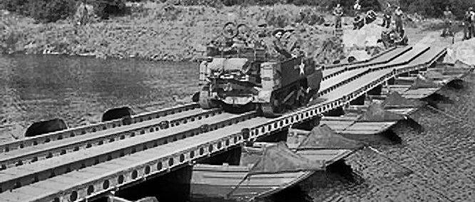 Легкий понтонный мост из парка М-1938