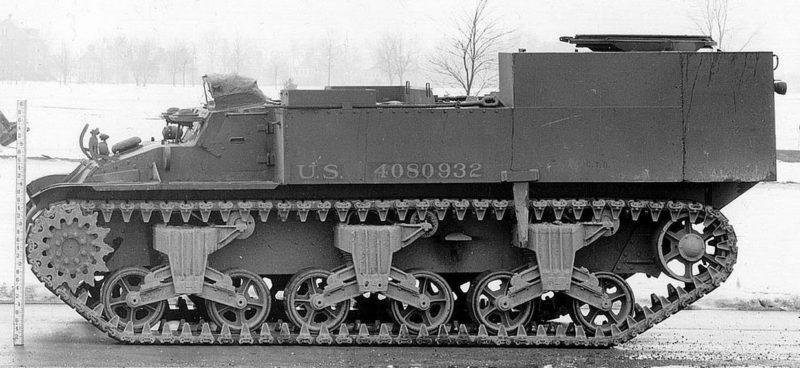 Подвозчик боеприпасов M-30, вид сбоку
