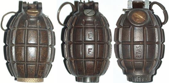 Ручные гранаты Mills-bomb № 5, № 23 и № 36