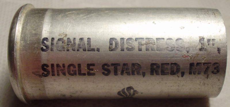 Аварийная ракета М-73 красного огня с алюминиевой гильзой