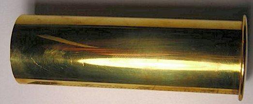 Латунная гильза сигнального патрона 37-мм калибра