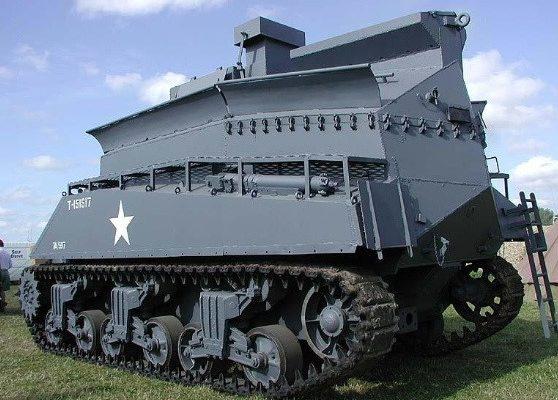 БРЭМ Sherman BARV, видсзади