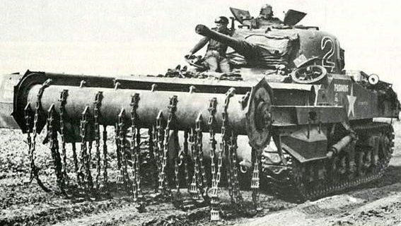 Минный цепной трал «Sherman-Crab»