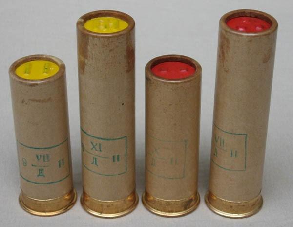 Сигнальные патроны 12 калибра желтого и красного огня