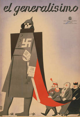 Пропагандистские плакаты Испании.