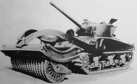 Минный катковый трал T-1E4
