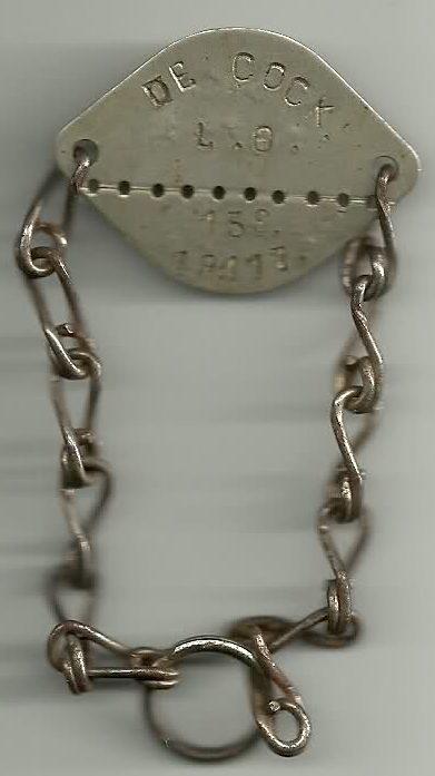 Опознавательные жетоны в качестве браслетов.