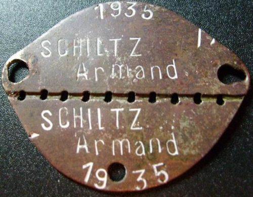 Образцы жетонов французской армии.