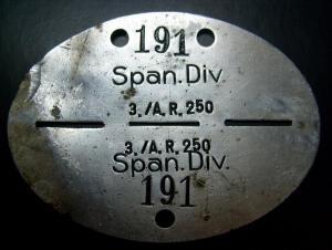 Личный опознавательный знак испанских военнослужащих.