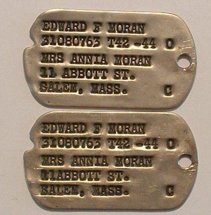 Опознавательные жетоны Второй мировой войны.