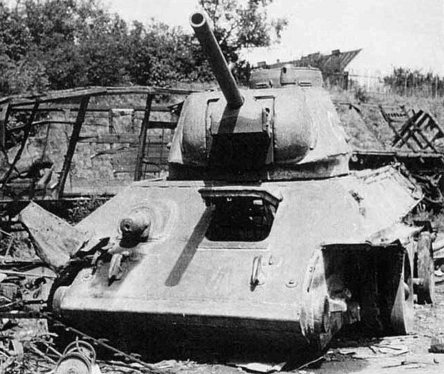 Средний огнеметный танк ОТ-34 образца 1941 г.
