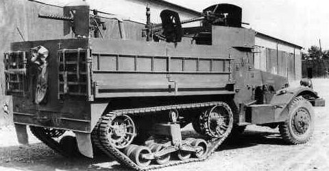 полугусеничный бронетранспортер Half-Track Personnel Carrier M-3A1