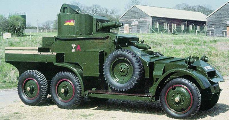 Средний бронеавтомобиль Lanchester Armoured Car Mk-I.