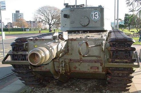 Британский тяжёлый огнемётный танк Mk-VII «Churchill-crocodile» видcpflb