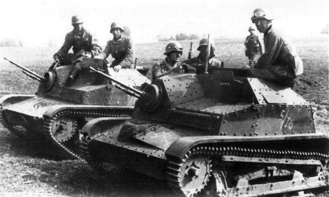 Захваченная немцами танкетка Panzerkampfwagen TK-3/TKS(p)