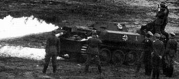Легкий огнеметный танк PzKpfw (Flammpanzer) II/Flamingo /Sd. Kfz. 122