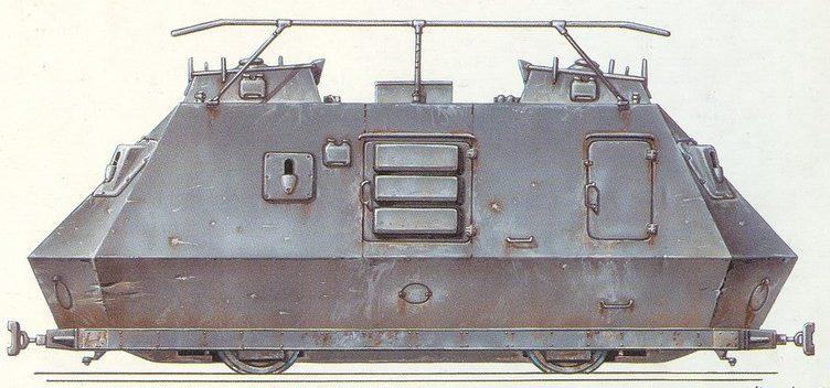 Рисунок броневагона Schienenpanzer Stayer K 2670