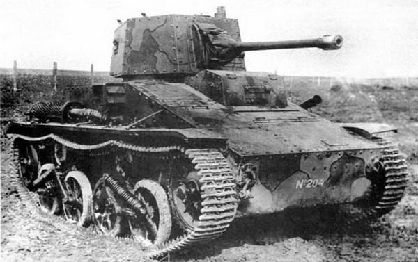 Легкий танк Vickers-Carden-Loyd mod. 1934 с 40-мм пушкой
