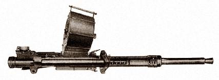 Авиапушка Type 99-1 в фиксированном варианте с барабанным питанием на 45 выстрелов