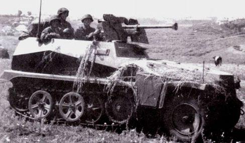 Полугусеничный бронетранспортер. SdKfz 250/11