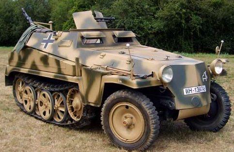 Полугусеничный бронетранспортер. SdKfz 250/2
