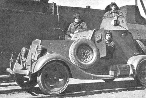 Легкий бронеавтомобиль БА-20 жд