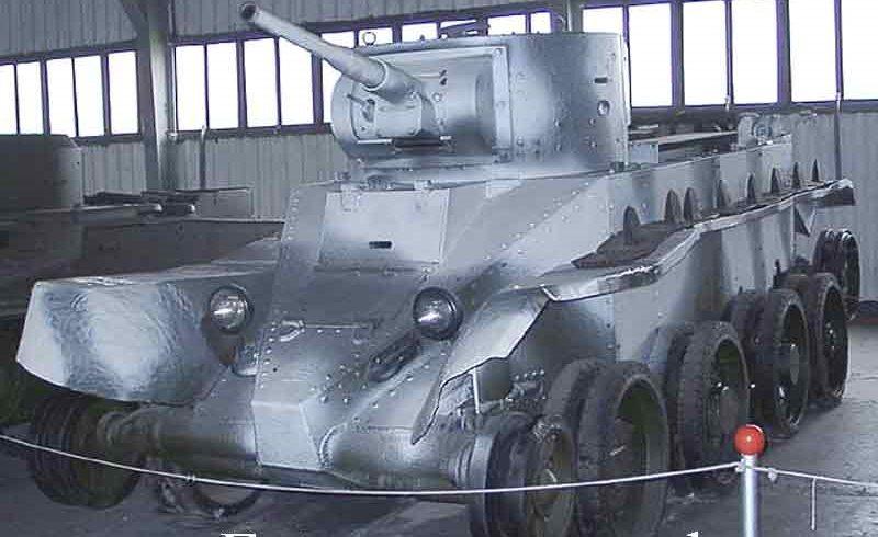 Лёгкий колёсно-гусеничный танк БТ-5: на колесном ходу