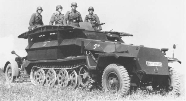 Бронетранспортер SdKfz 251/5 Ausf. C «Elch-2»