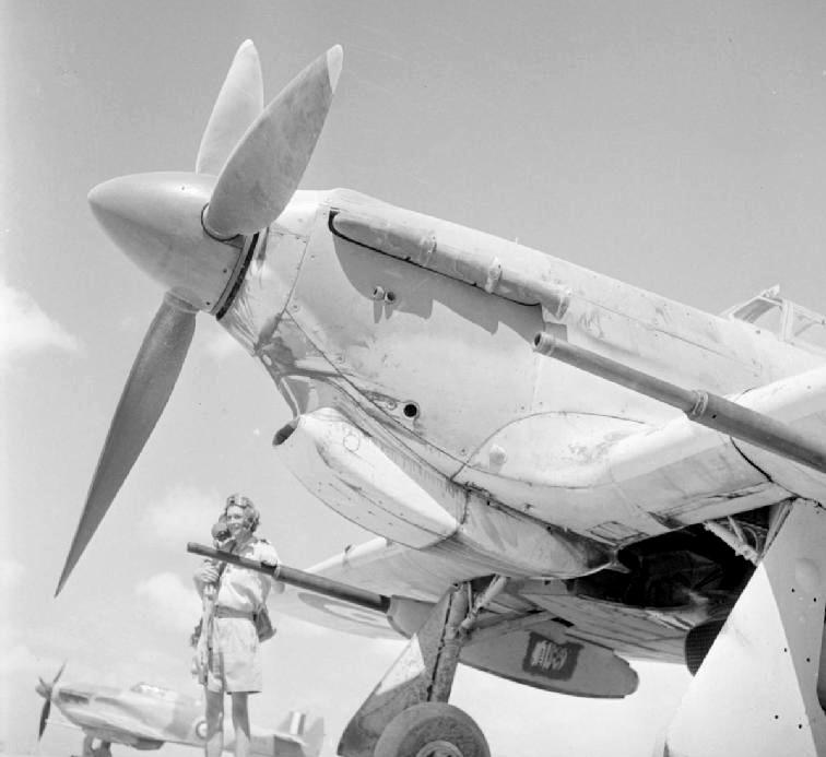 Истребитель Mustang, вооруженный пушками Vickers