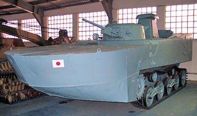 Плавающий танк Ка-Мисо снятыми понтонами