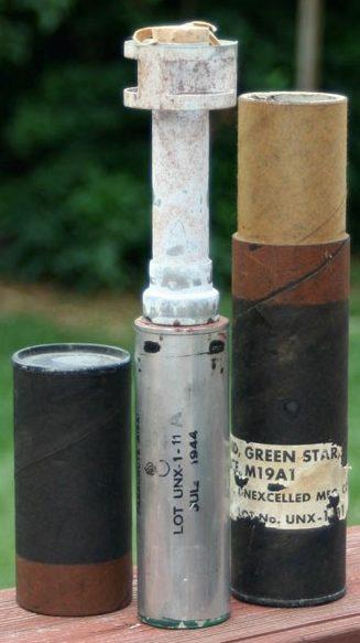 ружейная сигнальная граната M-19А1 с упаковкой