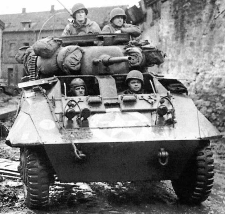 Средний бронеавтомобиль Armored Car M-8, Greyhound.